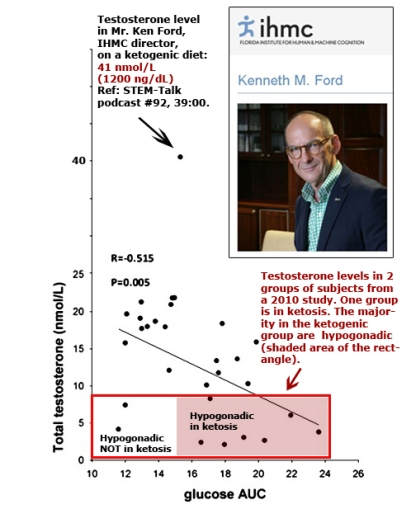 testosterone levels ketogenic diets